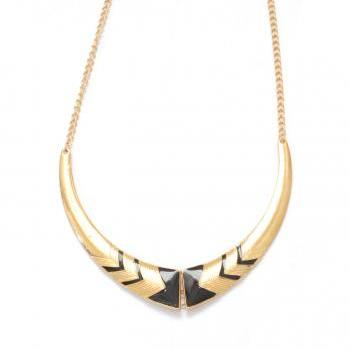 Gold egyptian bib statement necklace jewellery